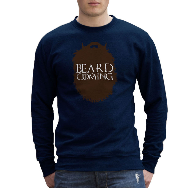 The Beard Collection Beard is Coming Game of Thrones Stark Men's Sweatshirt by DarkChoocoolat - Cloud City 7