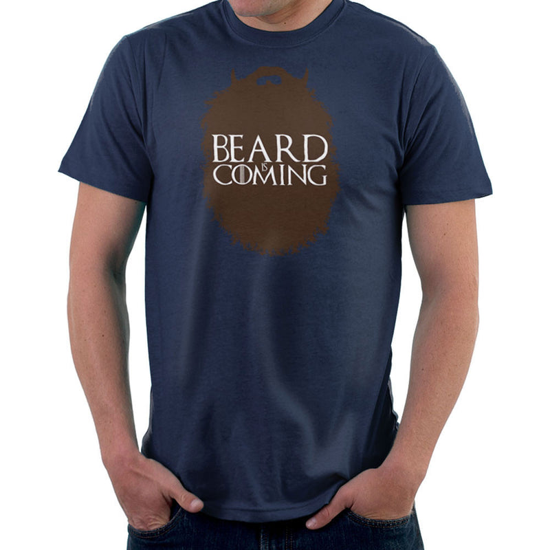 The Beard Collection Beard is Coming Game of Thrones Stark Men's T-Shirt by DarkChoocoolat - Cloud City 7