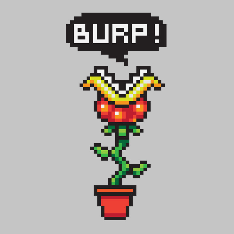 Burp Super Mario Piranha Plant Women's T-Shirt by DarkChoocoolat - Cloud City 7