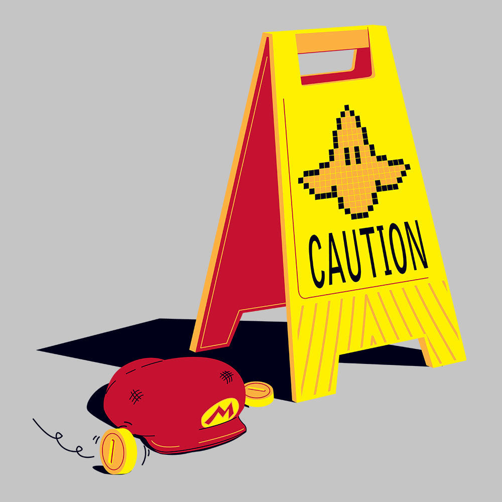 Caution Banana Mario Kart design Cloud City 7 - 1