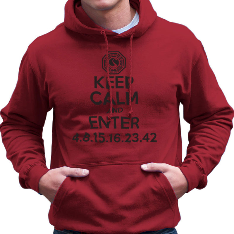 Keep Calm and Enter Dharma Initiative Lost Dark Men's Hooded Sweatshirt by DarkChoocoolat - Cloud City 7