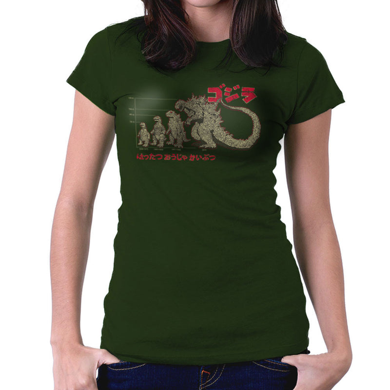 Evolution The King Of Monsters Godzilla Women's T-Shirt by DarkChoocoolat - Cloud City 7