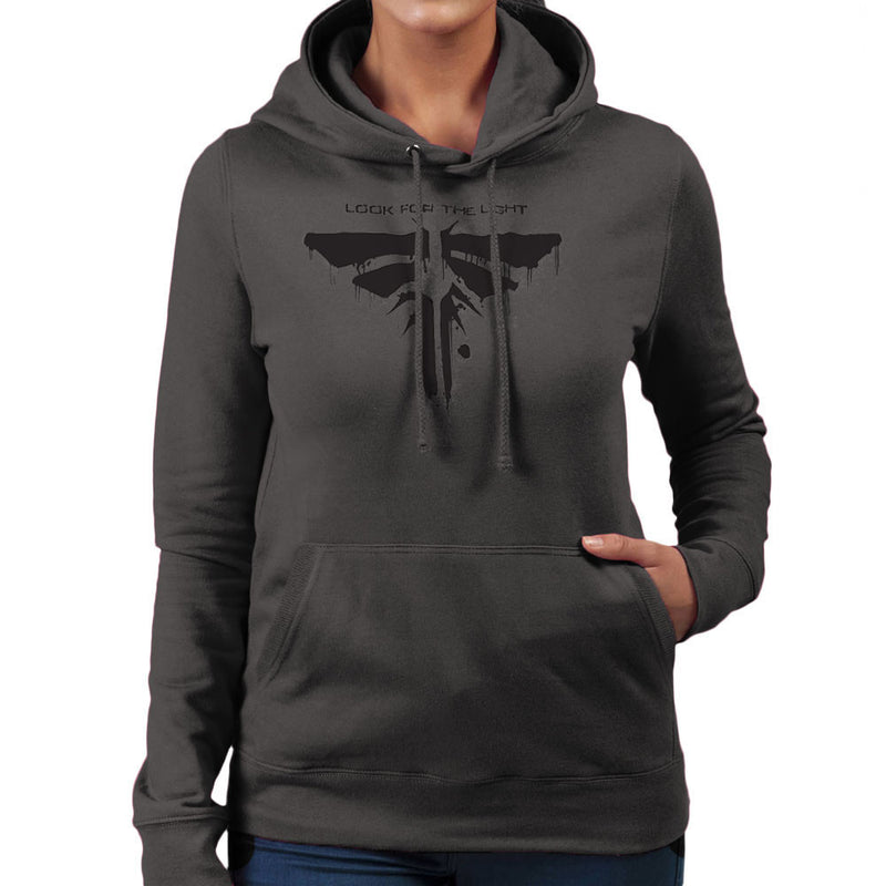 Fireflies Look for the Light Slogan Last of Us Women's Hooded Sweatshirt by DarkChoocoolat - Cloud City 7