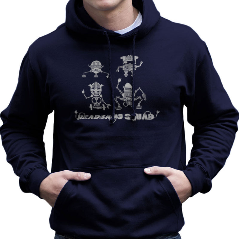 Headbang Squad Men's Hooded Sweatshirt by DarkChoocoolat - Cloud City 7