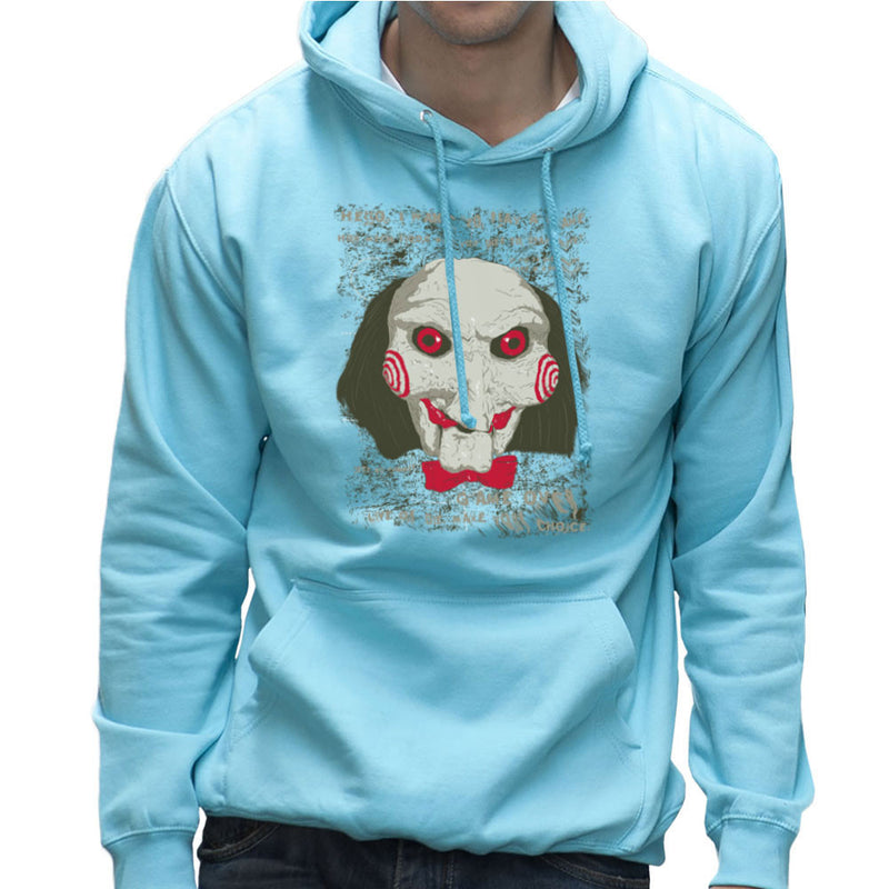 Jigsaw Saw Clown Head Men's Hooded Sweatshirt by DarkChoocoolat - Cloud City 7