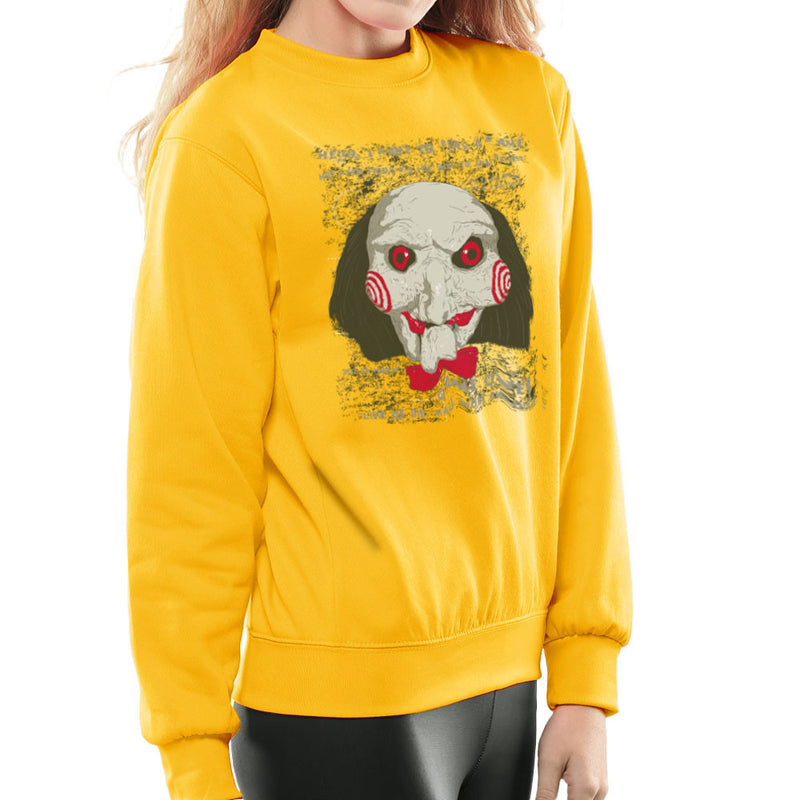 Jigsaw Saw Clown Head Women's Sweatshirt by DarkChoocoolat - Cloud City 7