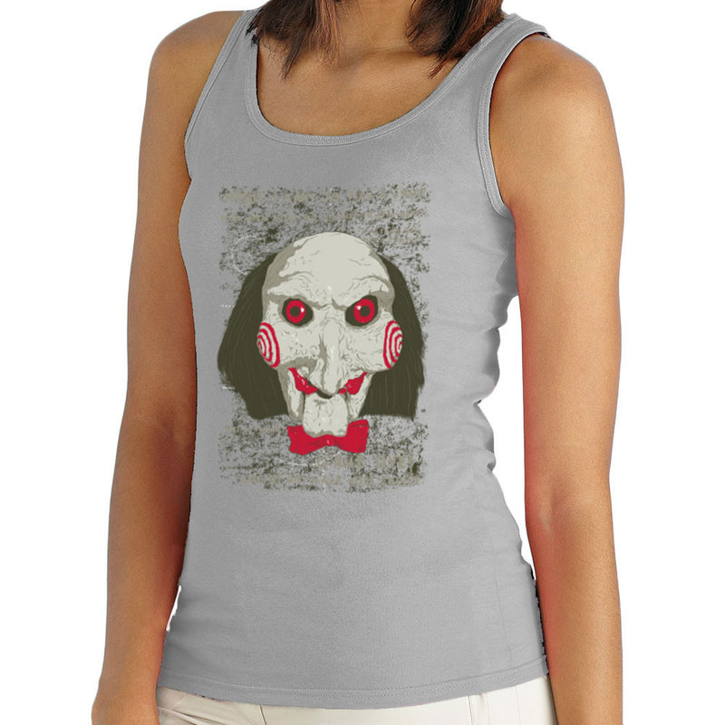 Jigsaw Saw Clown Head Women's Vest by DarkChoocoolat - Cloud City 7