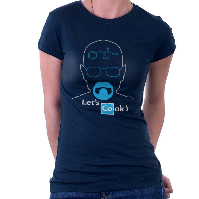 Breaking Bad Heisenberg Lets Cook Women's T-Shirt by DarkChoocoolat - Cloud City 7