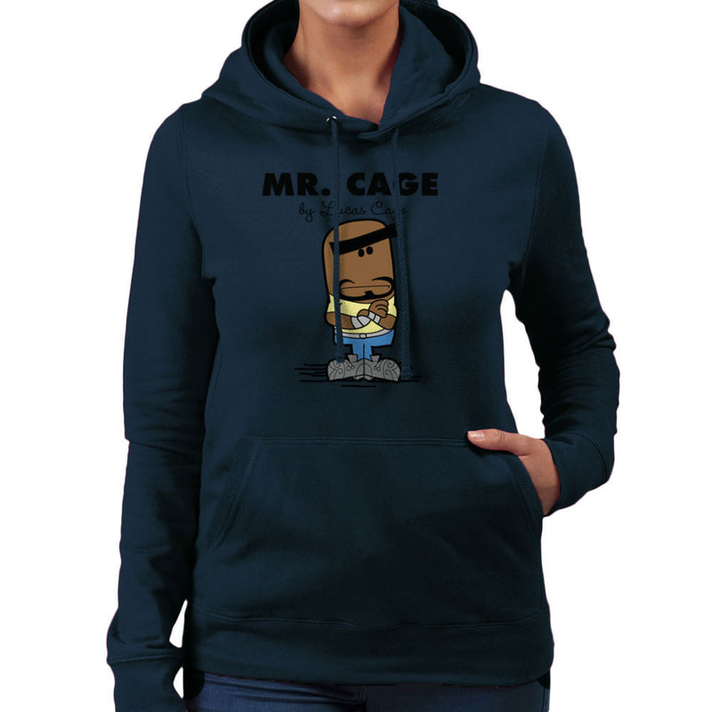 Mr Cage By Lucas Cage Hero For Hire Women's Hooded Sweatshirt by TopNotchy - Cloud City 7