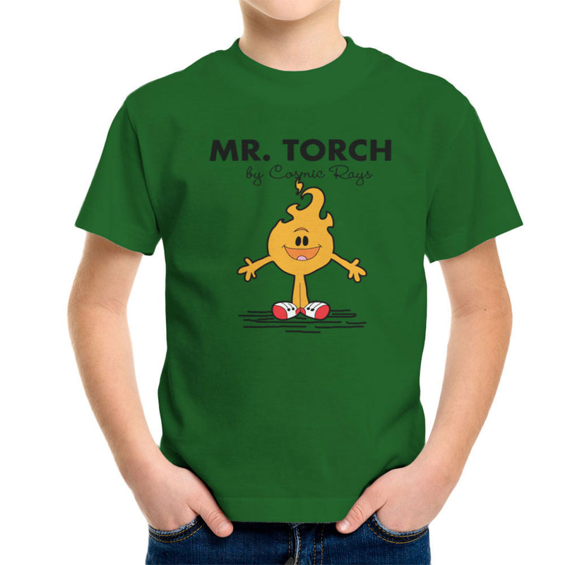 Mr Torch By Cosmic Rays Johnny Storm Fantastic Four Kid's T-Shirt by TopNotchy - Cloud City 7