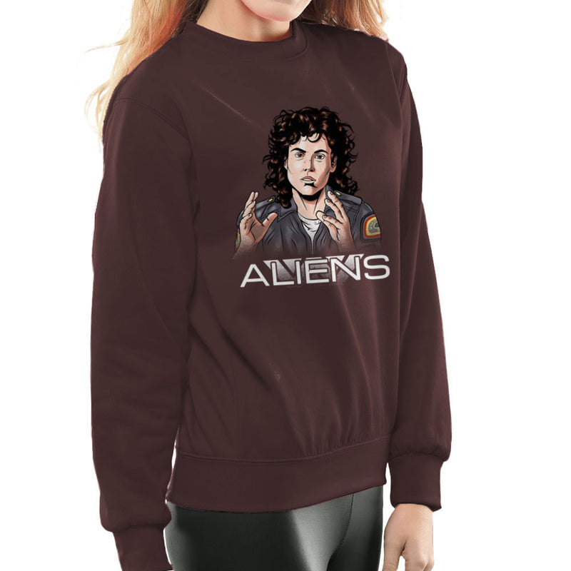 Alien Amanda Ripley Women's Sweatshirt by Zombie Media - Cloud City 7