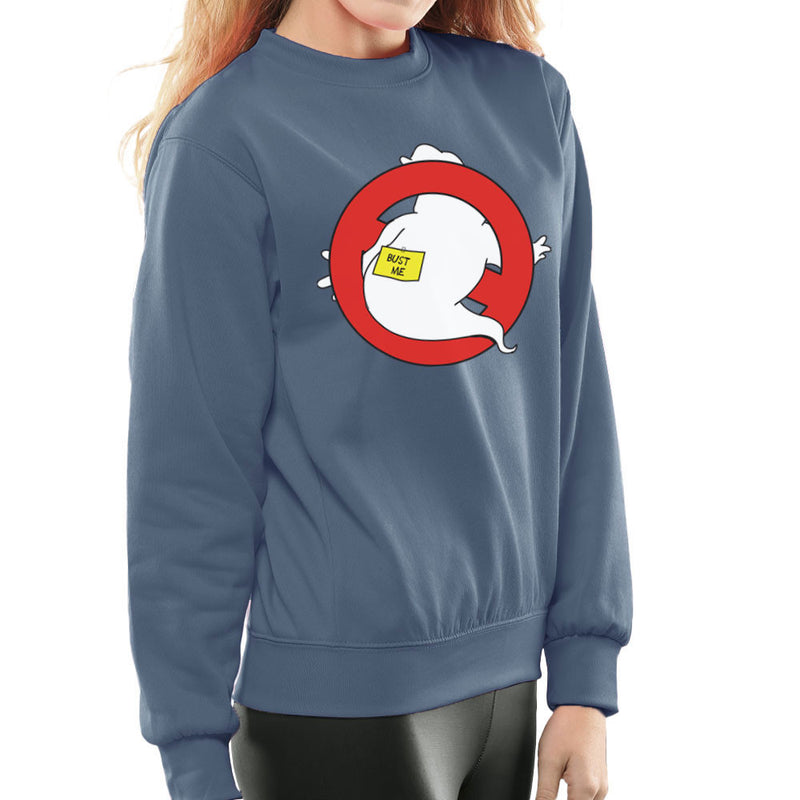 Bust Me Ghostbusters Logo Women's Sweatshirt by Zombie Media - Cloud City 7
