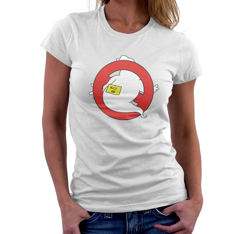 Bust Me Ghostbusters Logo Women's T-Shirt by Zombie Media - Cloud City 7