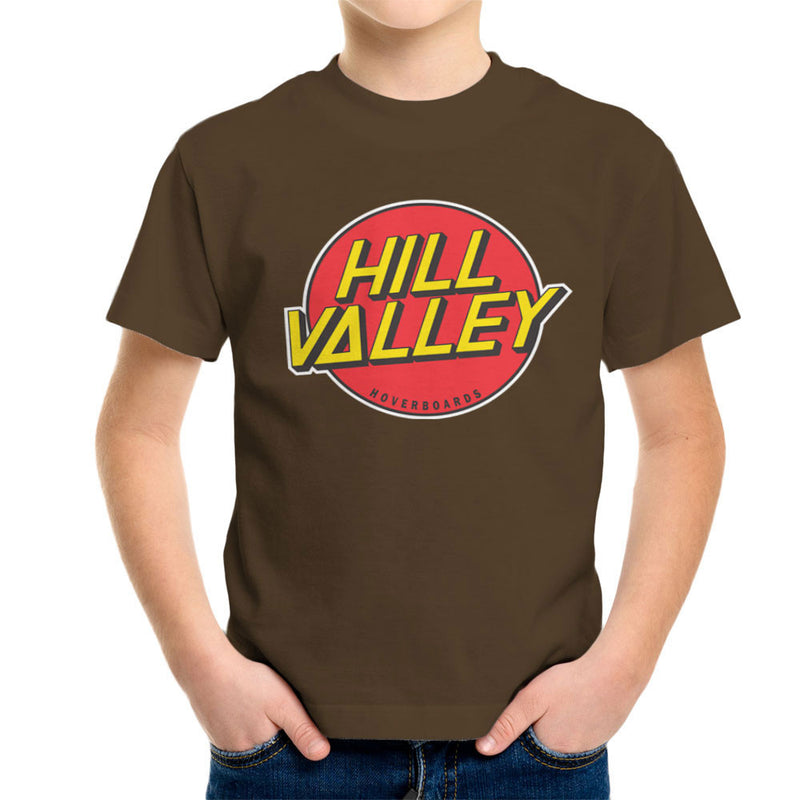 Hill Valley Hoverboards Back To The Future Kid's T-Shirt Kid's Boy's T-Shirt Cloud City 7 - 12