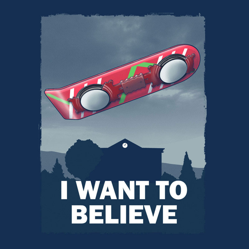 I Want To Believe Back To The Future Hoverboard X Files by Zombie Media - Cloud City 7