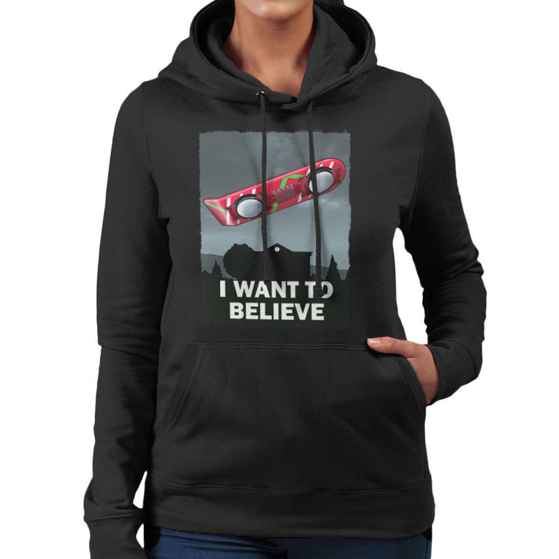 I Want To Believe Back To The Future Hoverboard X Files Women's Hooded Sweatshirt Women's Hooded Sweatshirt Cloud City 7 - 2