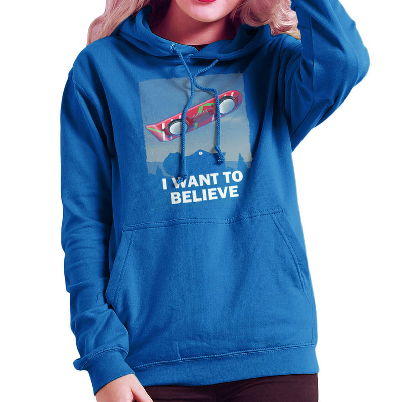 I Want To Believe Back To The Future Hoverboard X Files Women's Hooded Sweatshirt Women's Hooded Sweatshirt Cloud City 7 - 8