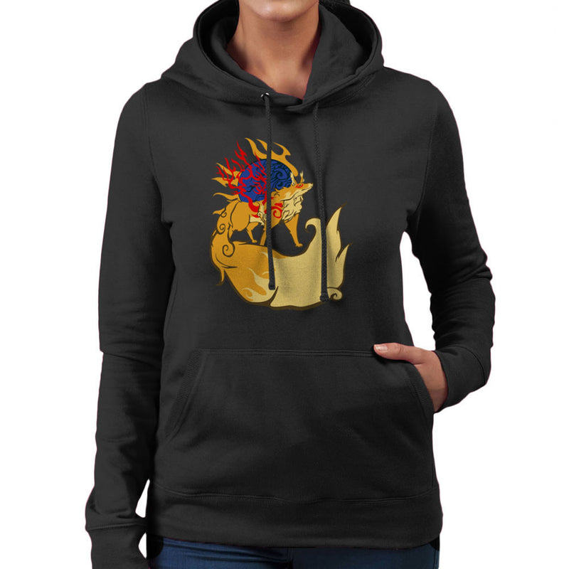 Firekami Okami Amaterasu Firefox Women's Hooded Sweatshirt by Kravache - Cloud City 7