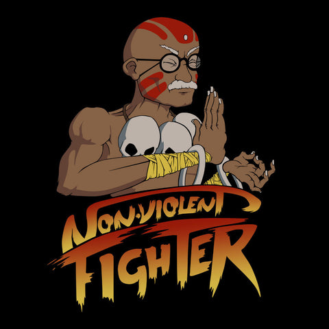 Non Violent Fighter Gandhi Street Fighter