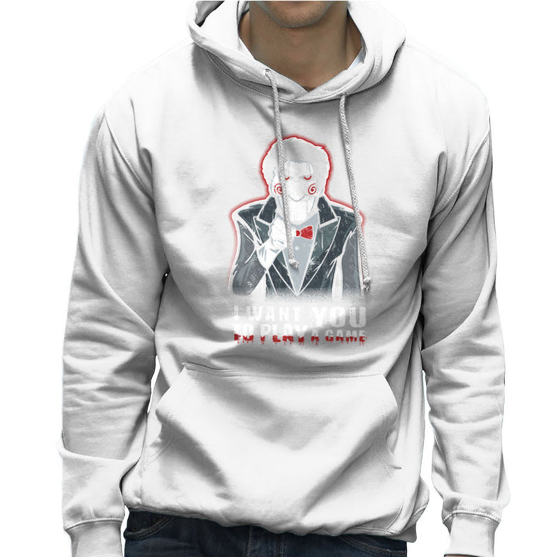 Evil Recruiter Saw Jigsaw Uncle Sam I Want You to Play A Game Men's Hooded Sweatshirt by Kempo24 - Cloud City 7