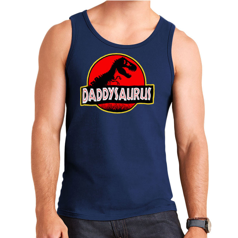 Fathers Day Collection Daddysaurus Jurassic Park Men's Vest by Pheasant Omelette - Cloud City 7