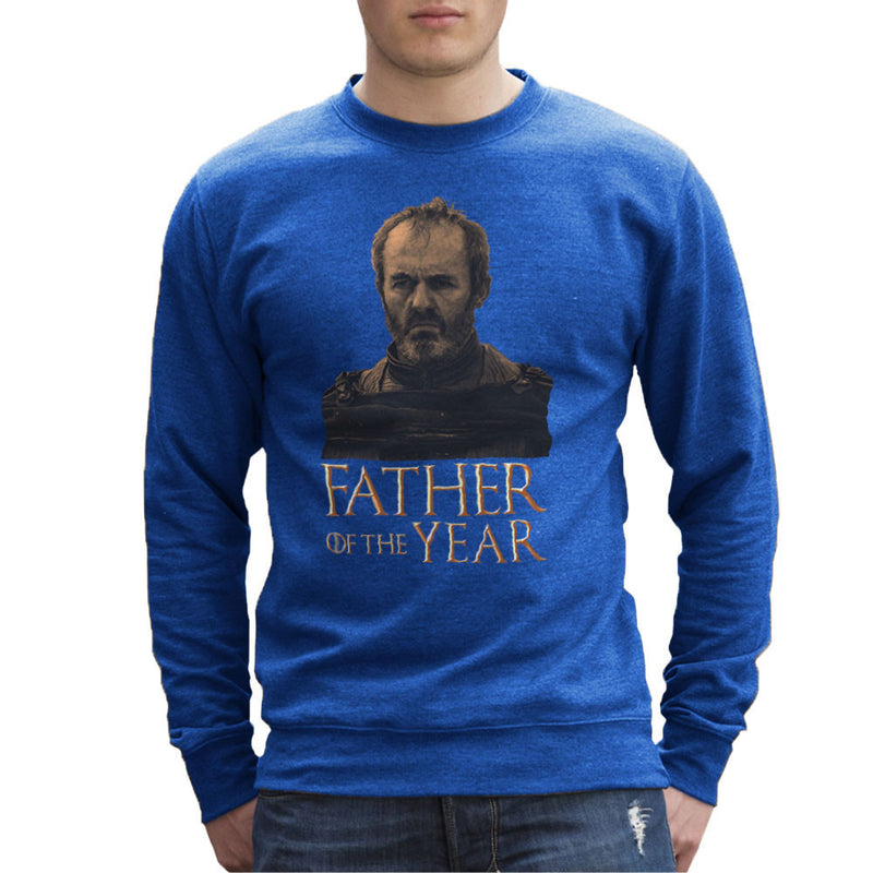 Fathers Day Collection Father Of The Year Stannis Baratheon Game Of Thrones Men's Sweatshirt by Pheasant Omelette - Cloud City 7