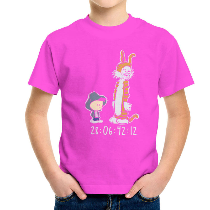 Donnie And Frank Calvin And Hobbes Darko Rabbit Kid's T-Shirt by Dansmash - Cloud City 7
