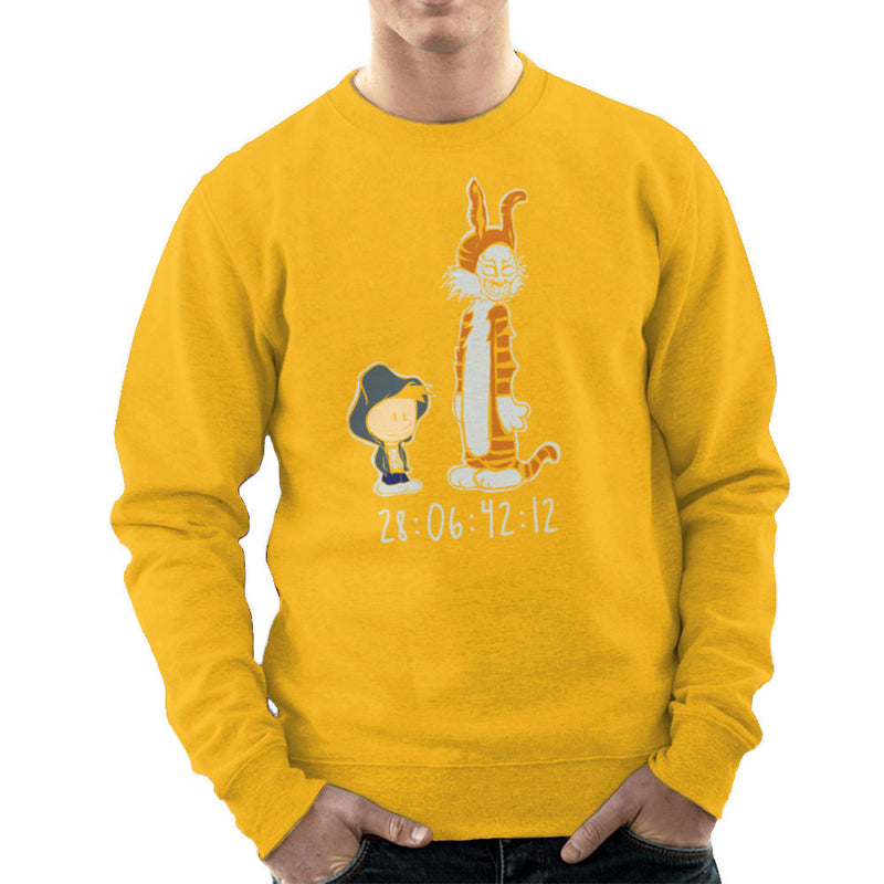 Donnie And Frank Calvin And Hobbes Darko Rabbit Men's Sweatshirt by Dansmash - Cloud City 7