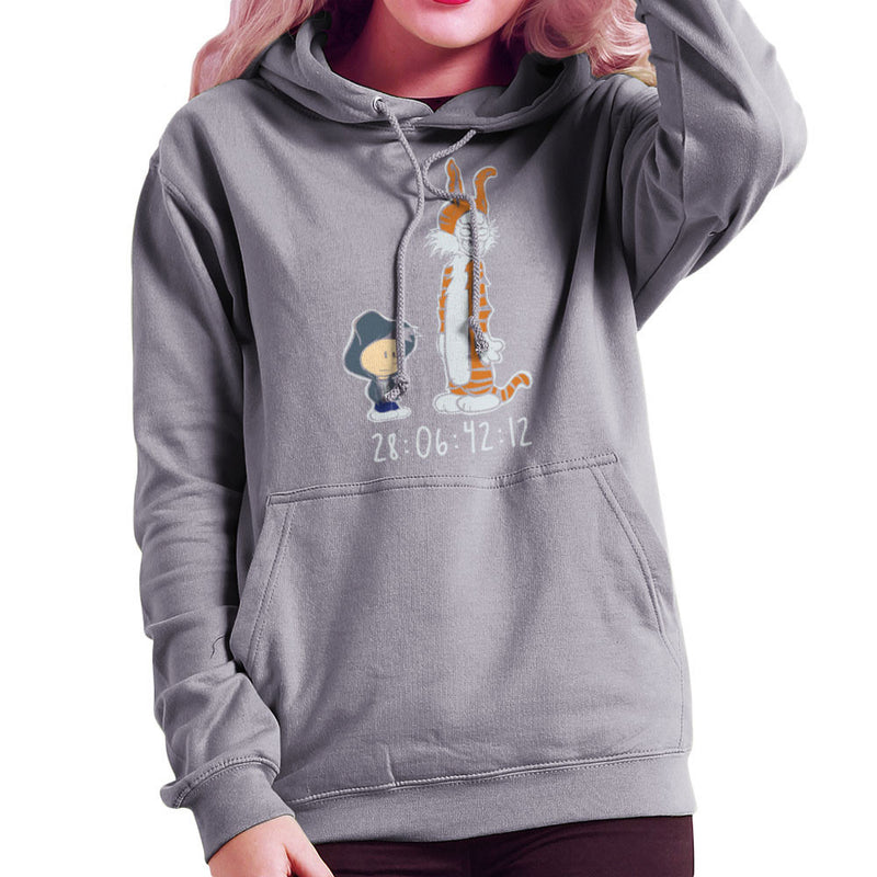 Donnie And Frank Calvin And Hobbes Darko Rabbit Women's Hooded Sweatshirt by Dansmash - Cloud City 7