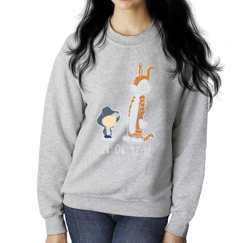 Donnie And Frank Calvin And Hobbes Darko Rabbit Women's Sweatshirt by Dansmash - Cloud City 7