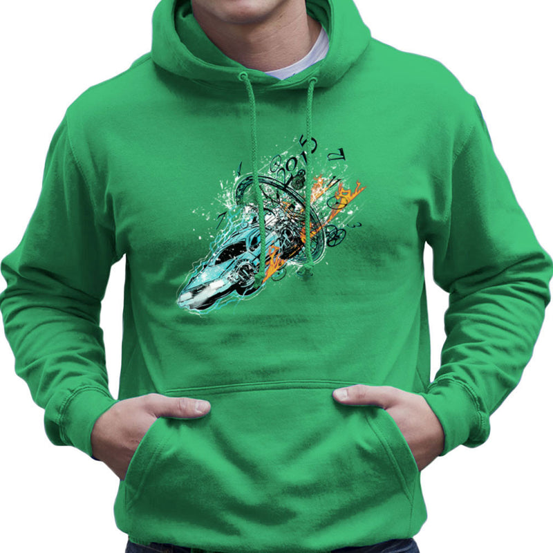 Break To The Future Delorean Clock Men's Hooded Sweatshirt by RicoMambo - Cloud City 7