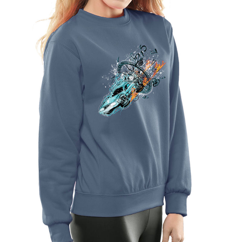 Break To The Future Delorean Clock Women's Sweatshirt by RicoMambo - Cloud City 7