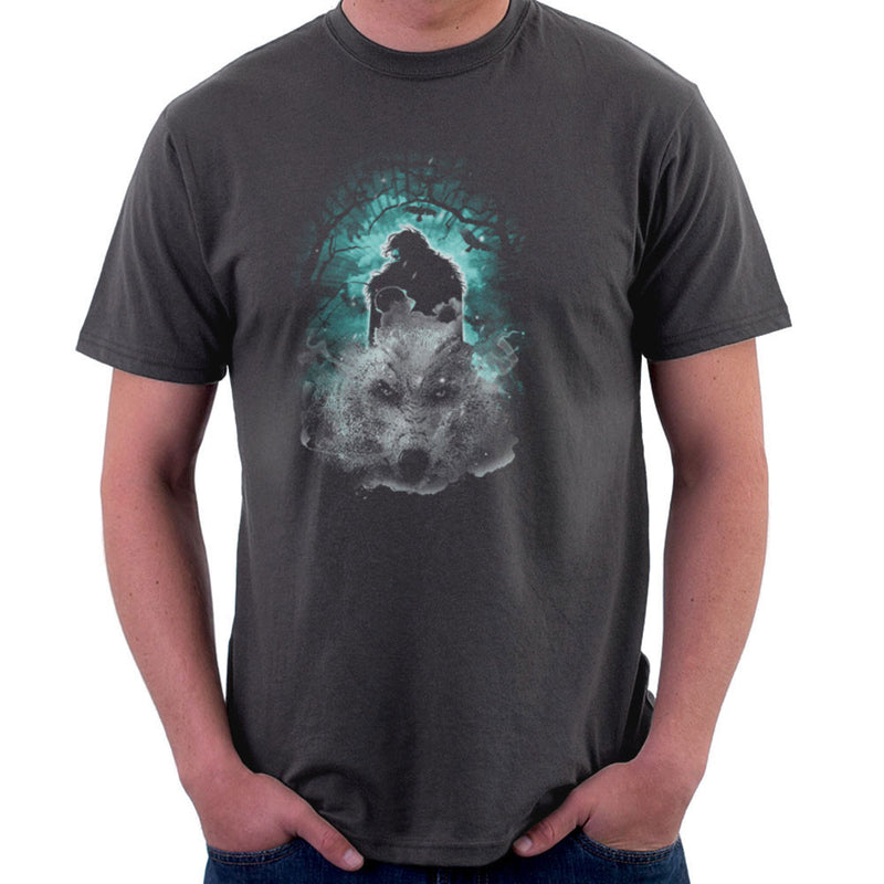 Ghosts Game Of Thrones Jon Snow Direwolf Men's T-Shirt by RicoMambo - Cloud City 7