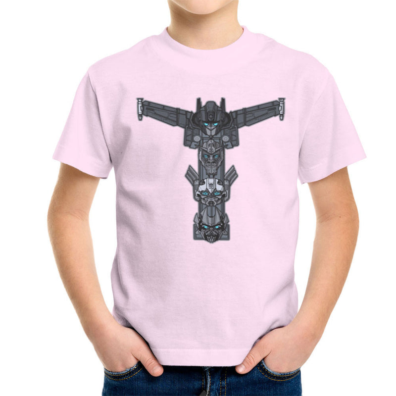Autobot Totem Transformers Optimus Prime Bumblebee Ironhide Kid's T-Shirt by AndreusD - Cloud City 7