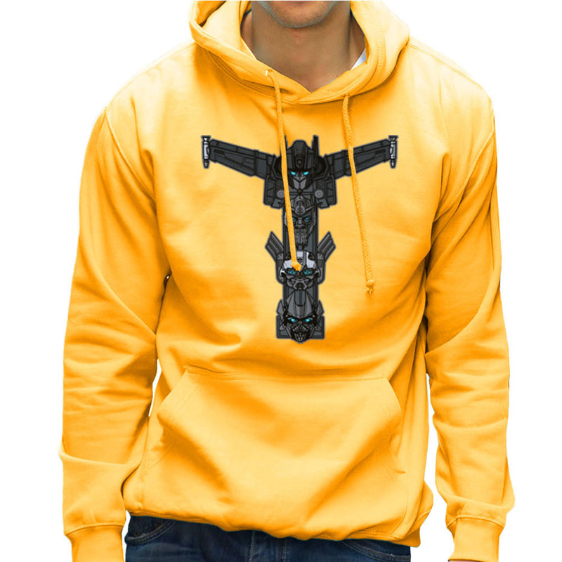 Autobot Totem Transformers Optimus Prime Bumblebee Ironhide Men's Hooded Sweatshirt by AndreusD - Cloud City 7