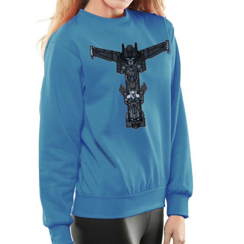 Autobot Totem Transformers Optimus Prime Bumblebee Ironhide Women's Sweatshirt by AndreusD - Cloud City 7
