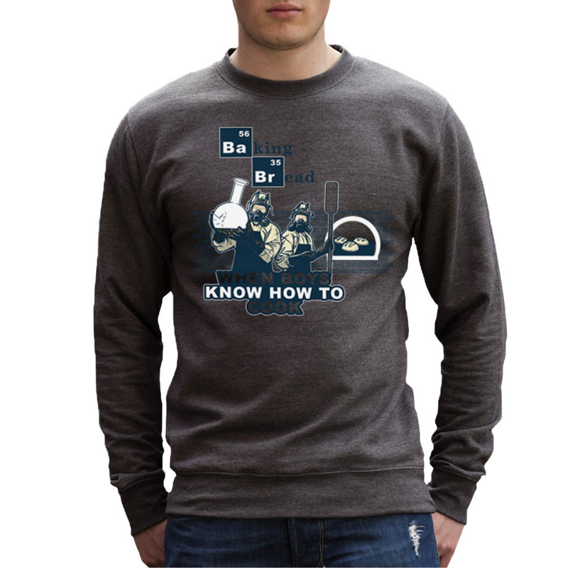 Baking Bread When Boys Know How to Cook Breaking Bad Men's Sweatshirt by AndreusD - Cloud City 7