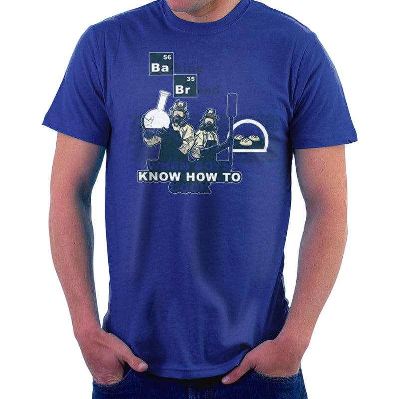 Baking Bread When Boys Know How to Cook Breaking Bad Men's T-Shirt by AndreusD - Cloud City 7