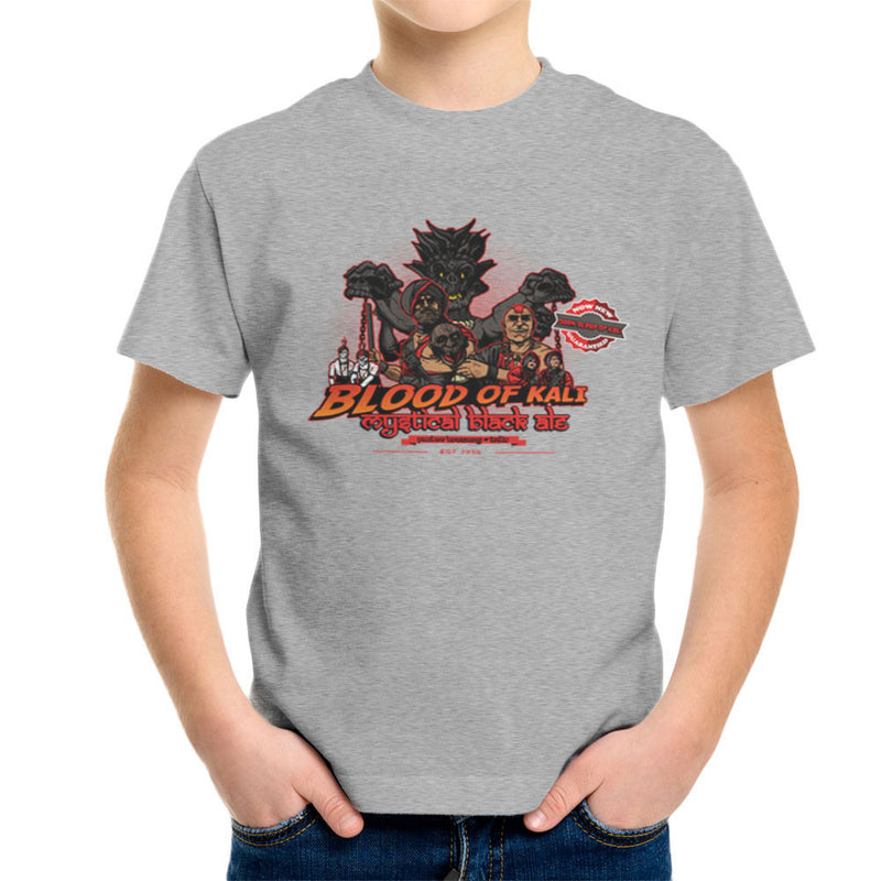 Indiana Jones Blood Of Kali Mystical Black Ale Temple Of Doom Kid's T-Shirt by AndreusD - Cloud City 7