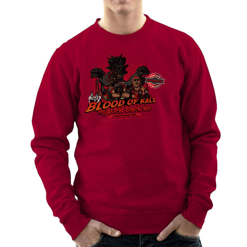 Indiana Jones Blood Of Kali Mystical Black Ale Temple Of Doom Men's Sweatshirt by AndreusD - Cloud City 7