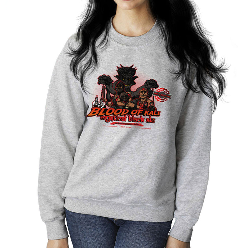 Indiana Jones Blood Of Kali Mystical Black Ale Temple Of Doom Women's Sweatshirt by AndreusD - Cloud City 7