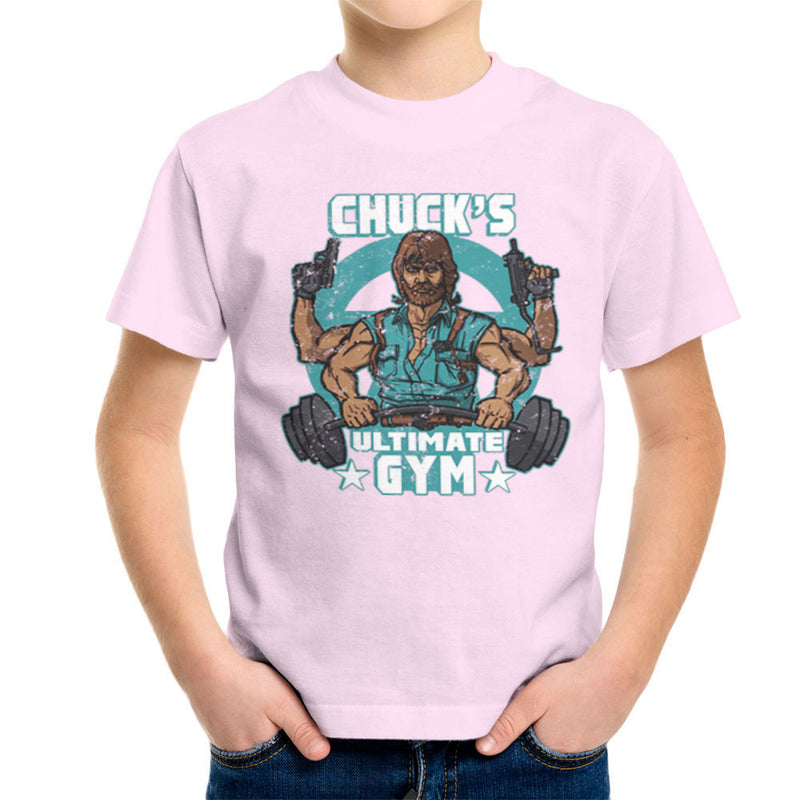 Chucks Ultimate Gym Chuck Norris Kid's T-Shirt by AndreusD - Cloud City 7