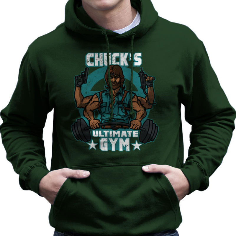 Chucks Ultimate Gym Chuck Norris Men's Hooded Sweatshirt by AndreusD - Cloud City 7