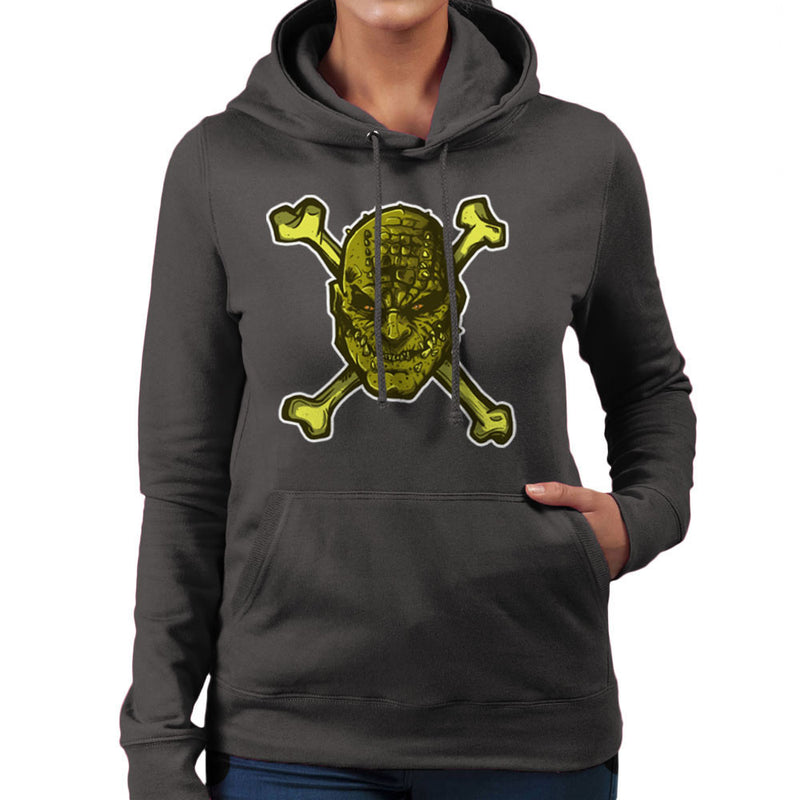 Croc Bones Supervillain Women's Hooded Sweatshirt by AndreusD - Cloud City 7