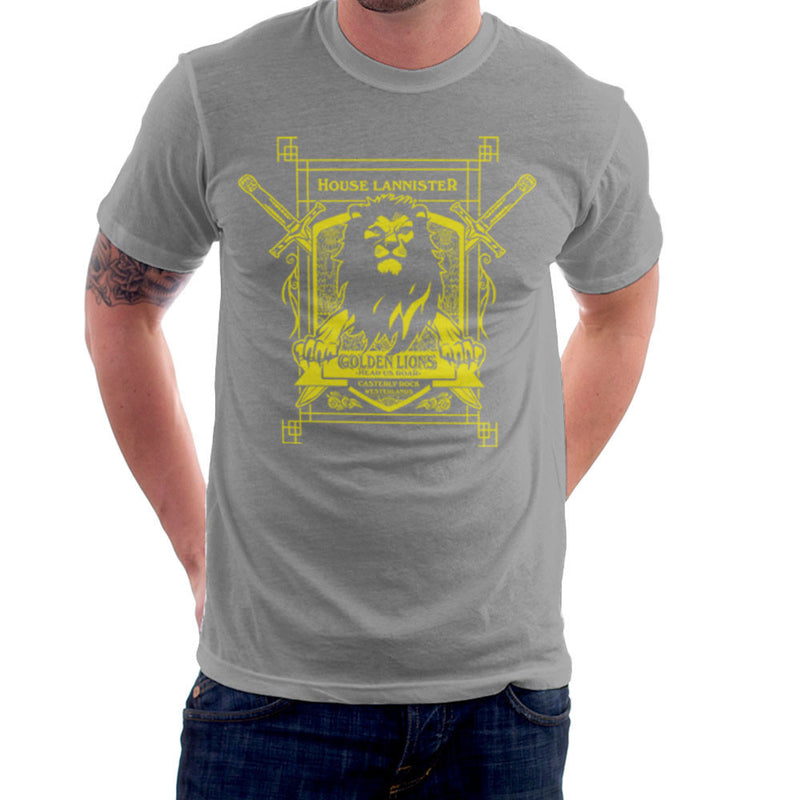 Game Of Thrones House Lannister Golden Lions Hear Us Roar Men's T-Shirt by AndreusD - Cloud City 7