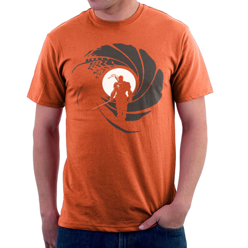 Deathstroke Slade Wilson Licence To Slash James Bond Gun Barrel Men's T-Shirt by AndreusD - Cloud City 7