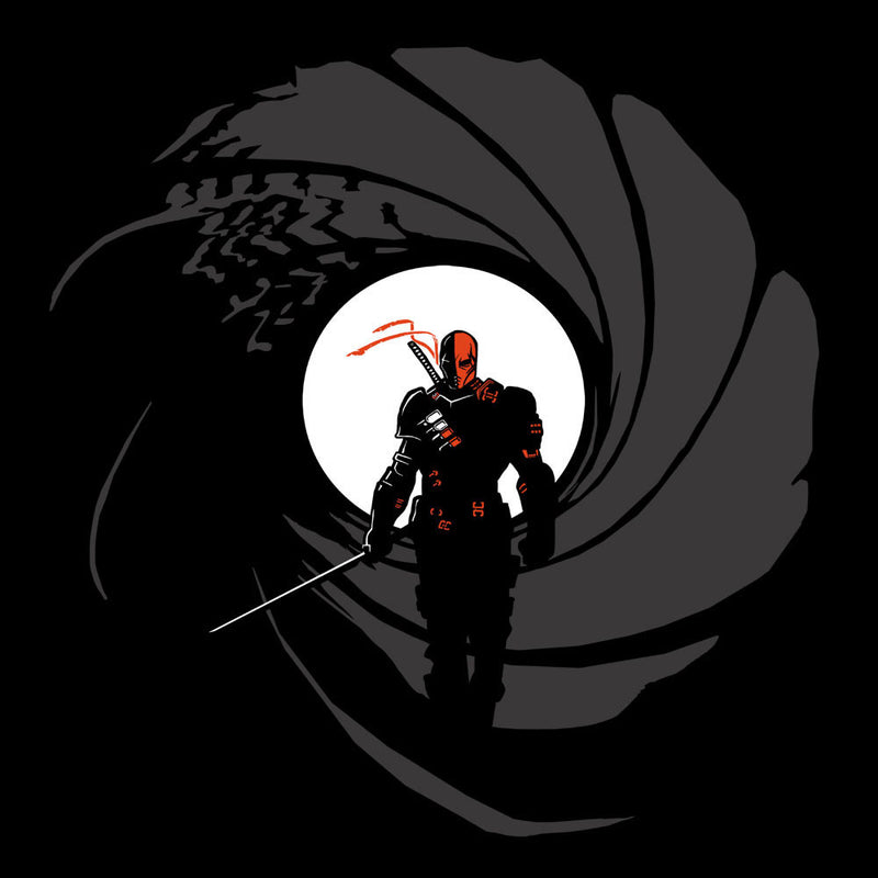 Deathstroke Slade Wilson Licence To Slash James Bond Gun Barrel by AndreusD - Cloud City 7