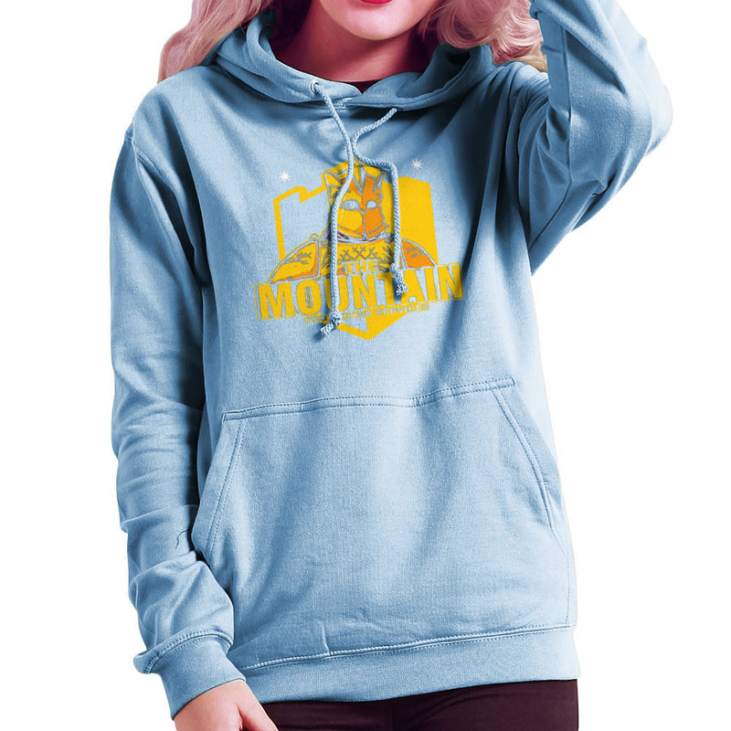 The Mountain Protective Services Gregor Clegane Game Of Thrones Women's Hooded Sweatshirt by AndreusD - Cloud City 7