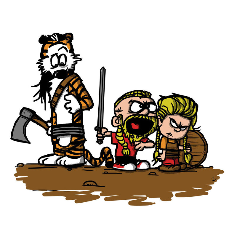 Calvin And Hobbes Vikings Ragnar Lothbrok by AndreusD - Cloud City 7