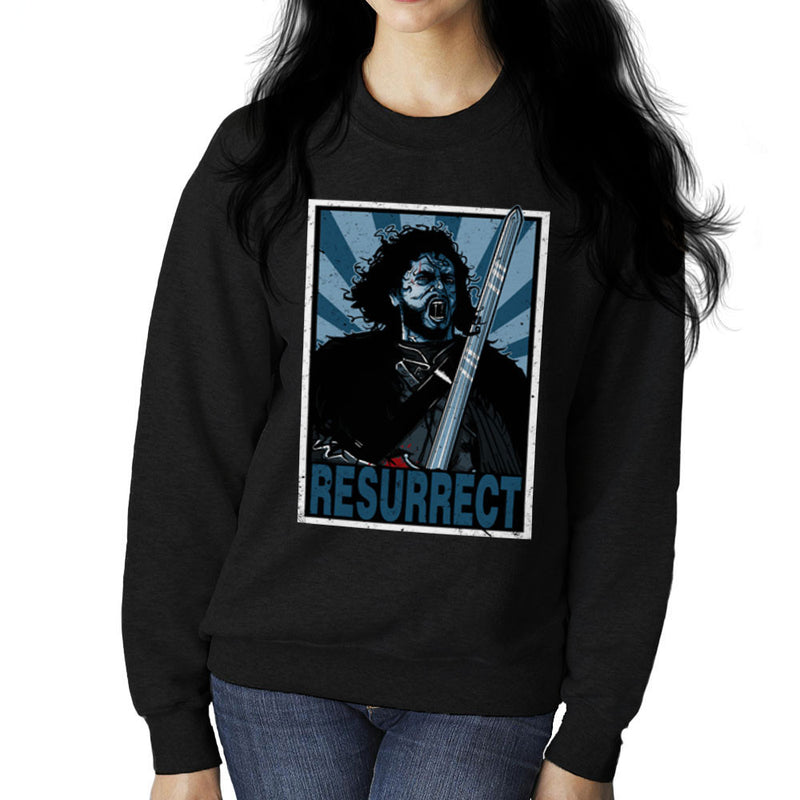 Resurrect Jon Snow Zombie Game Of Thrones Women's Sweatshirt by AndreusD - Cloud City 7